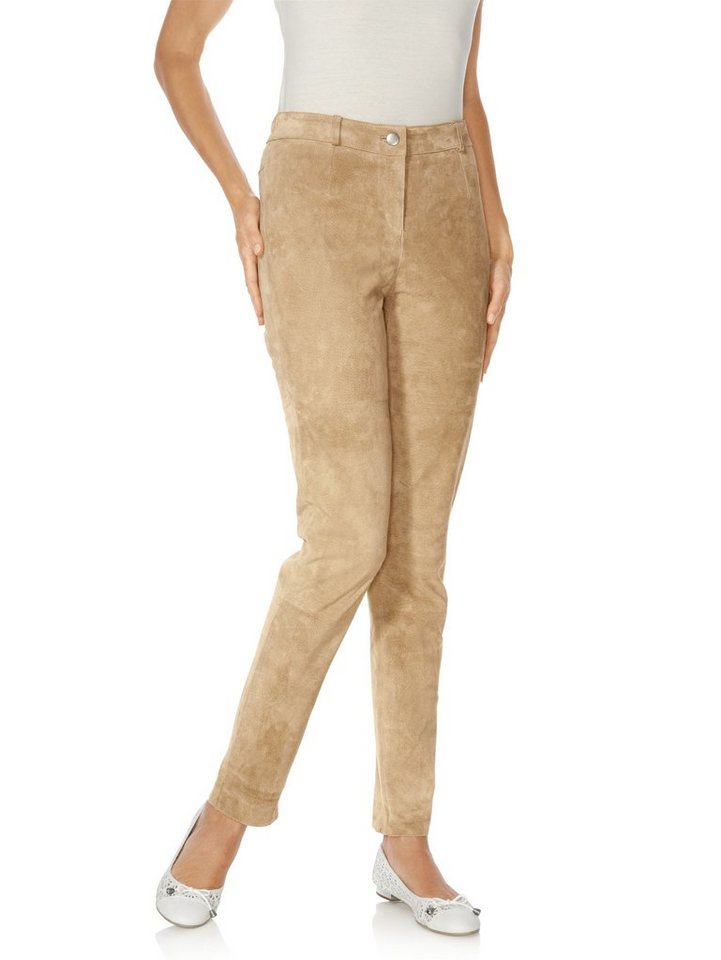 Lederhose, Porcvelours in beige