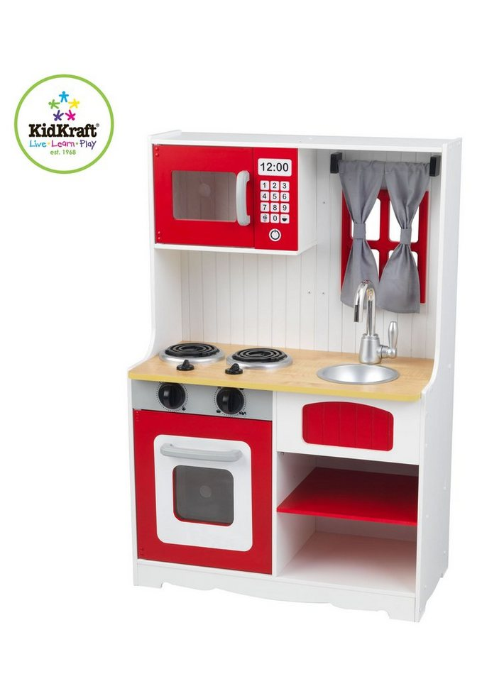 Kidkraftr spielkuche aus holz red country kitchen for Kidkraft spielküche