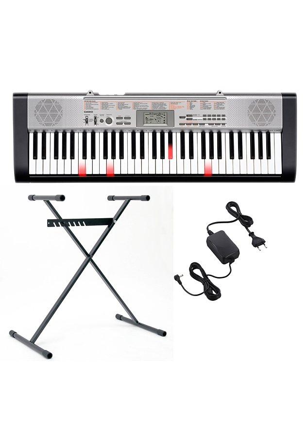 Casio® Leuchttasten Keyboard inkl. Ständer und Netzteil, »LK 130« in rot