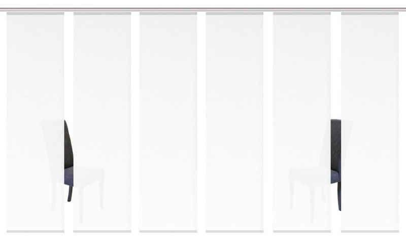 Schiebegardine »ROMA«, HOME WOHNIDEEN, Paneelwagen (6 Stück), HxB: 245x60, inkl. Befestigungszubehör
