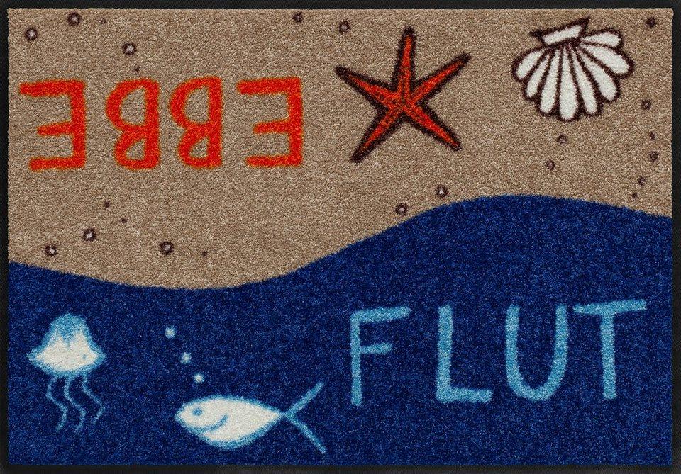 Fußmatte, Salonloewe, »Ebbe & Flut«, waschbar, In- und Outdoor mit rutschhemmender Beschichtung in Bunt