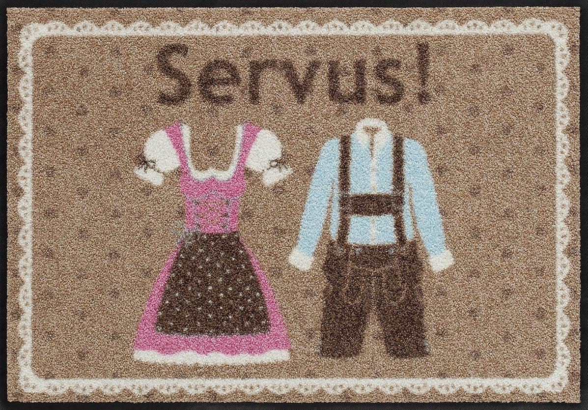 Fußmatte, Salonloewe, »Servus Bayern«, waschbar, In- und Outdoor mit rutschhemmender Beschichtung