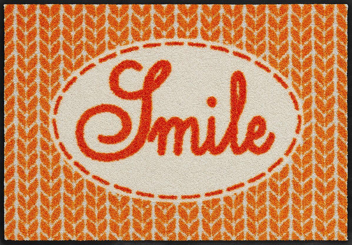 Fußmatte, Salonloewe, »Smile«, waschbar, In- und Outdoor mit rutschhemmender Beschichtung