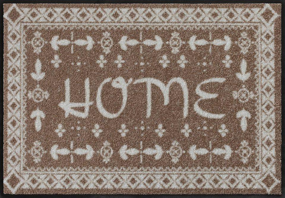 Fußmatte, Salonloewe, »Bright Home« by Wachtmeister Lifestyle, waschbar, In- und Outdoor geeignet in Beige