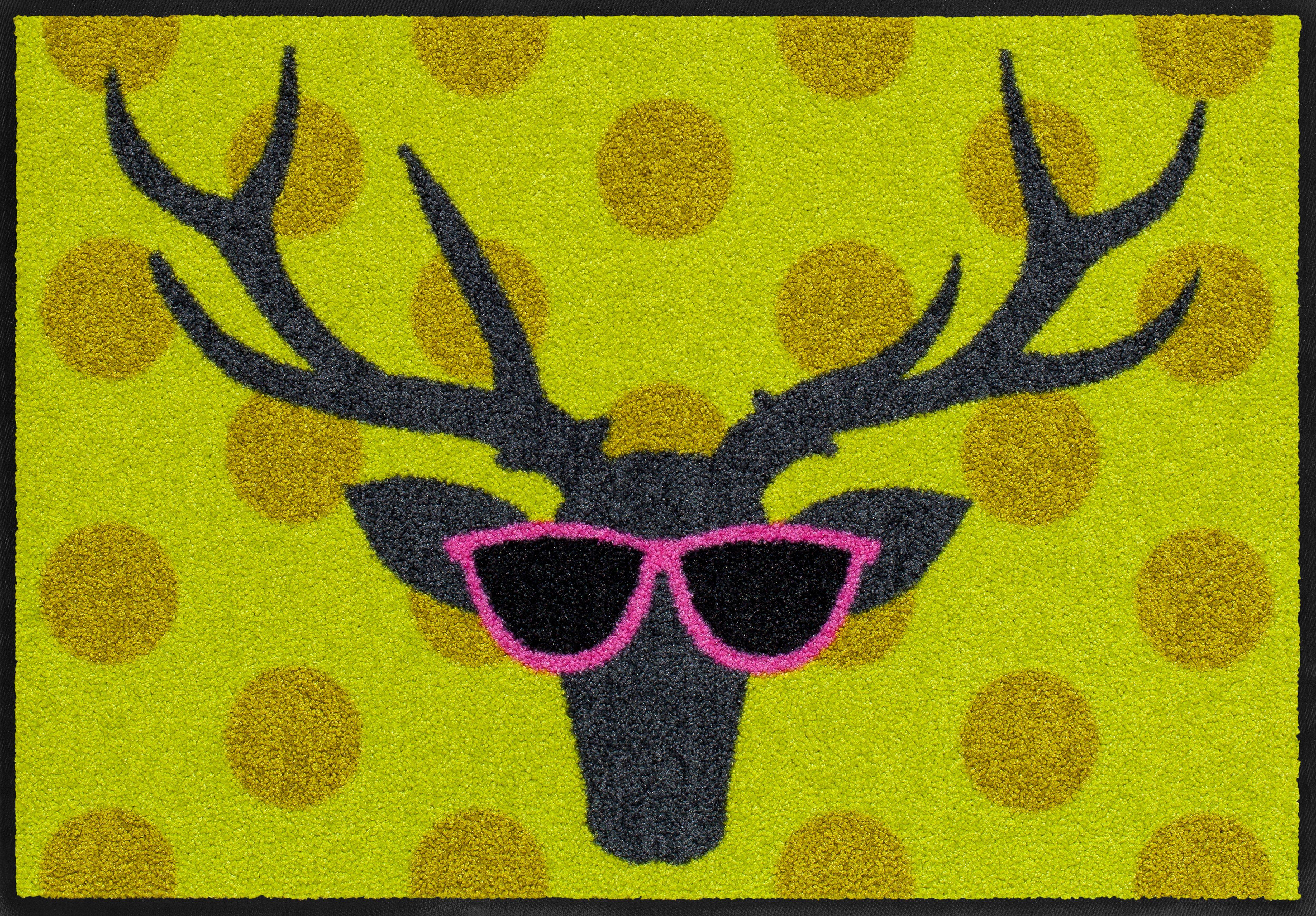 Fußmatte, Salonloewe, »Funky Deer«, waschbar, In- und Outdoor mit rutschhemmender Beschichtung