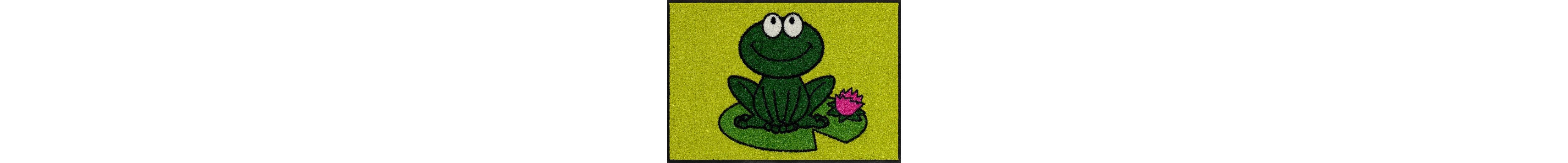 Fußmatte, Salonloewe, »Funky Frog«, waschbar, In- und Outdoor mit rutschhemmender Beschichtung