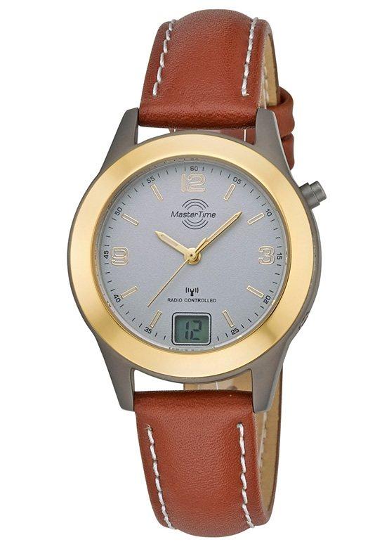 "Master Time, Damen-Funkarmbanduhr, ""MTLT-10482-42L"" in braun"