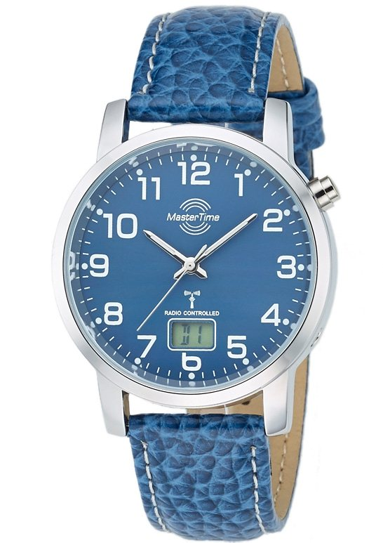 "Master Time, Herren-Funkarmbanduhr, ""MTGA-10493-32L"" in blau"