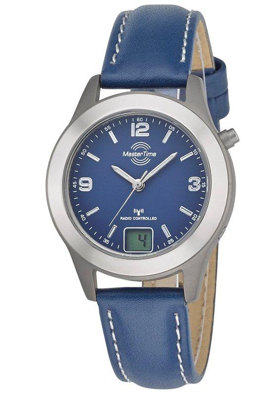 "Master Time, Damen-Funkarmbanduhr, ""MTLT-10480-32L"" in blau"