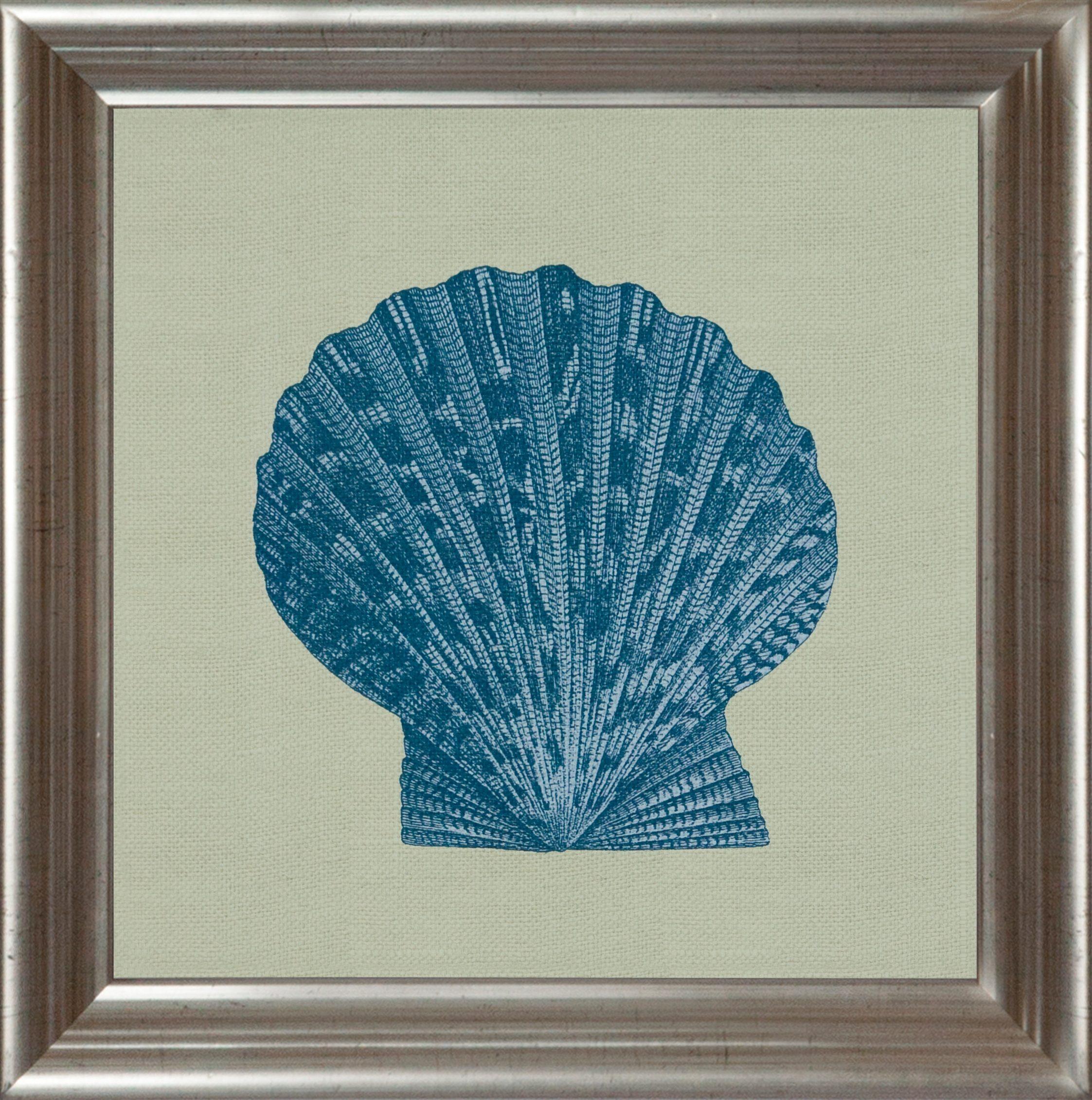 G&C gerahmter Kunstdruck »Chambray Shell Motiv 2« , 40/40 cm
