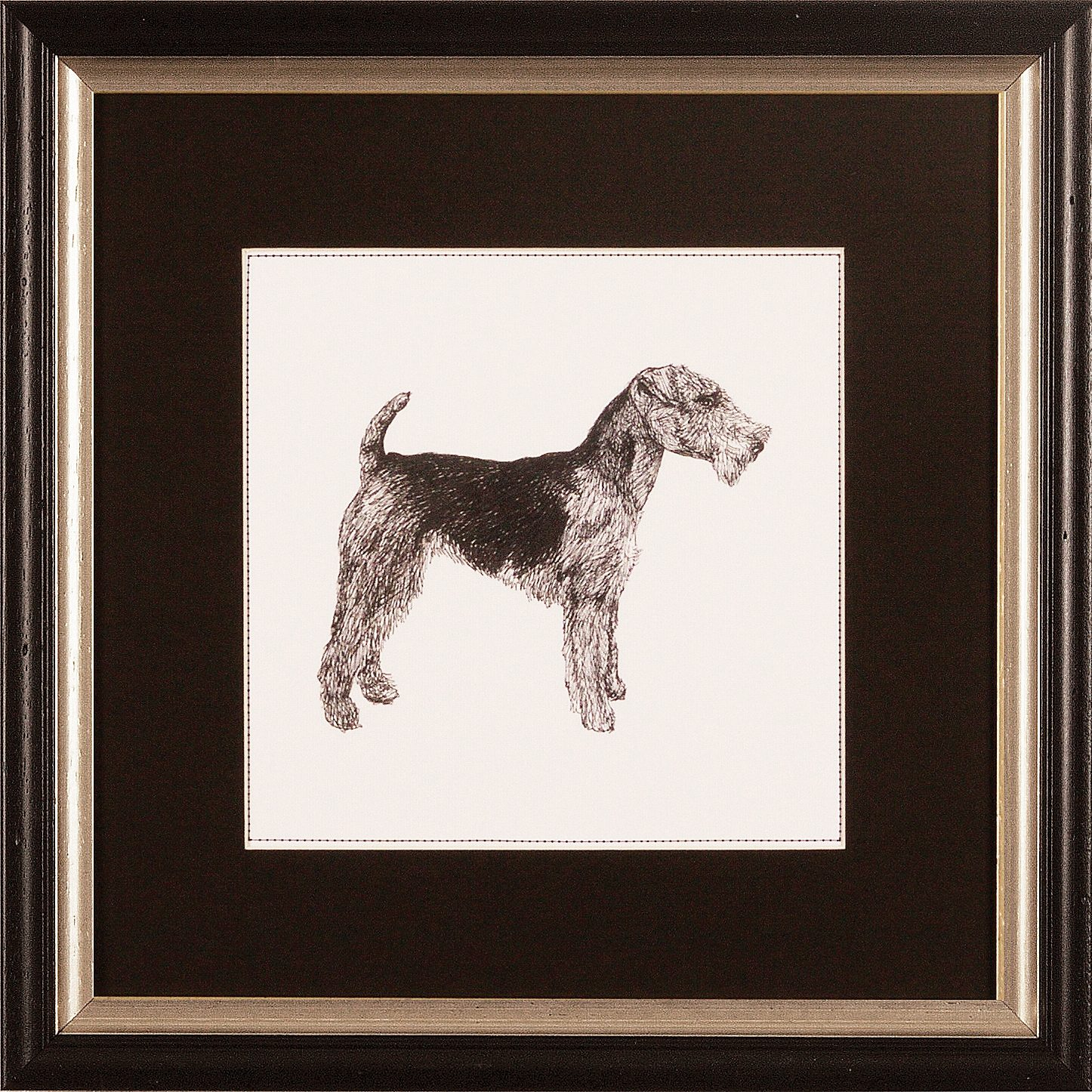 G&C gerahmter Kunstdruck »Meagher: Best in Show Airedale Terrier«, 30/30 cm