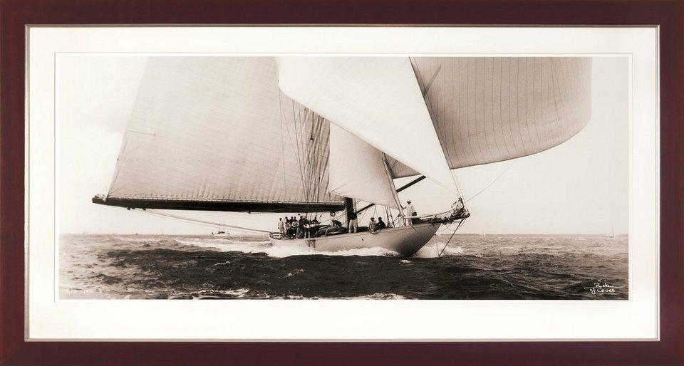 G&C gerahmter Kunstdruck »SHIPS Motiv 1« , 31/56 cm in Sepia-Effekt