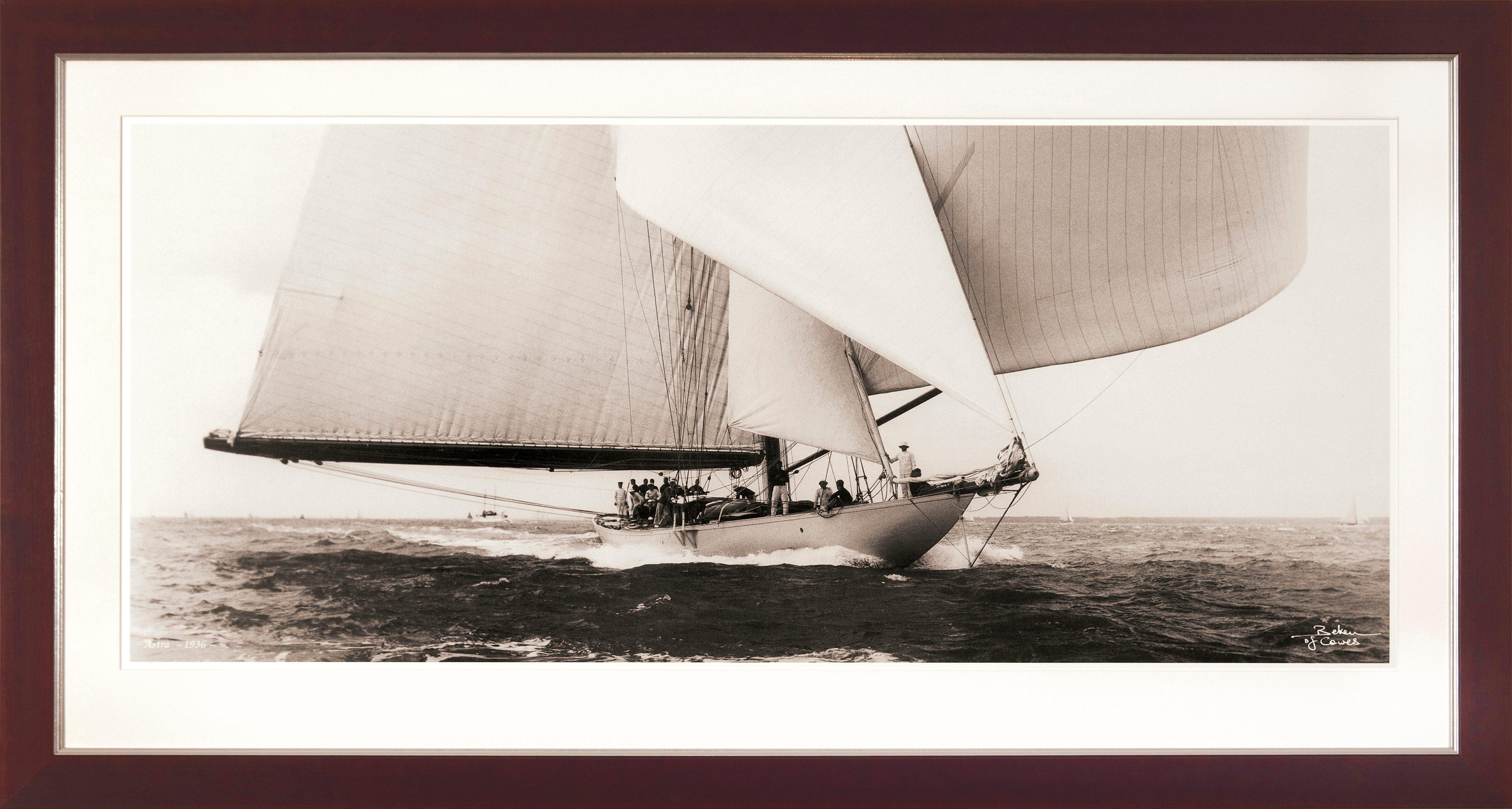 G&C gerahmter Kunstdruck »SHIPS Motiv 1« , 31/56 cm