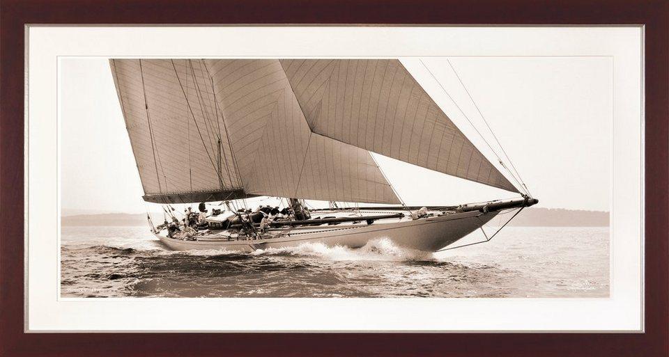 G&C gerahmter Kunstdruck »SHIPS Motiv 2« , 31/56 cm in Sepia-Effekt