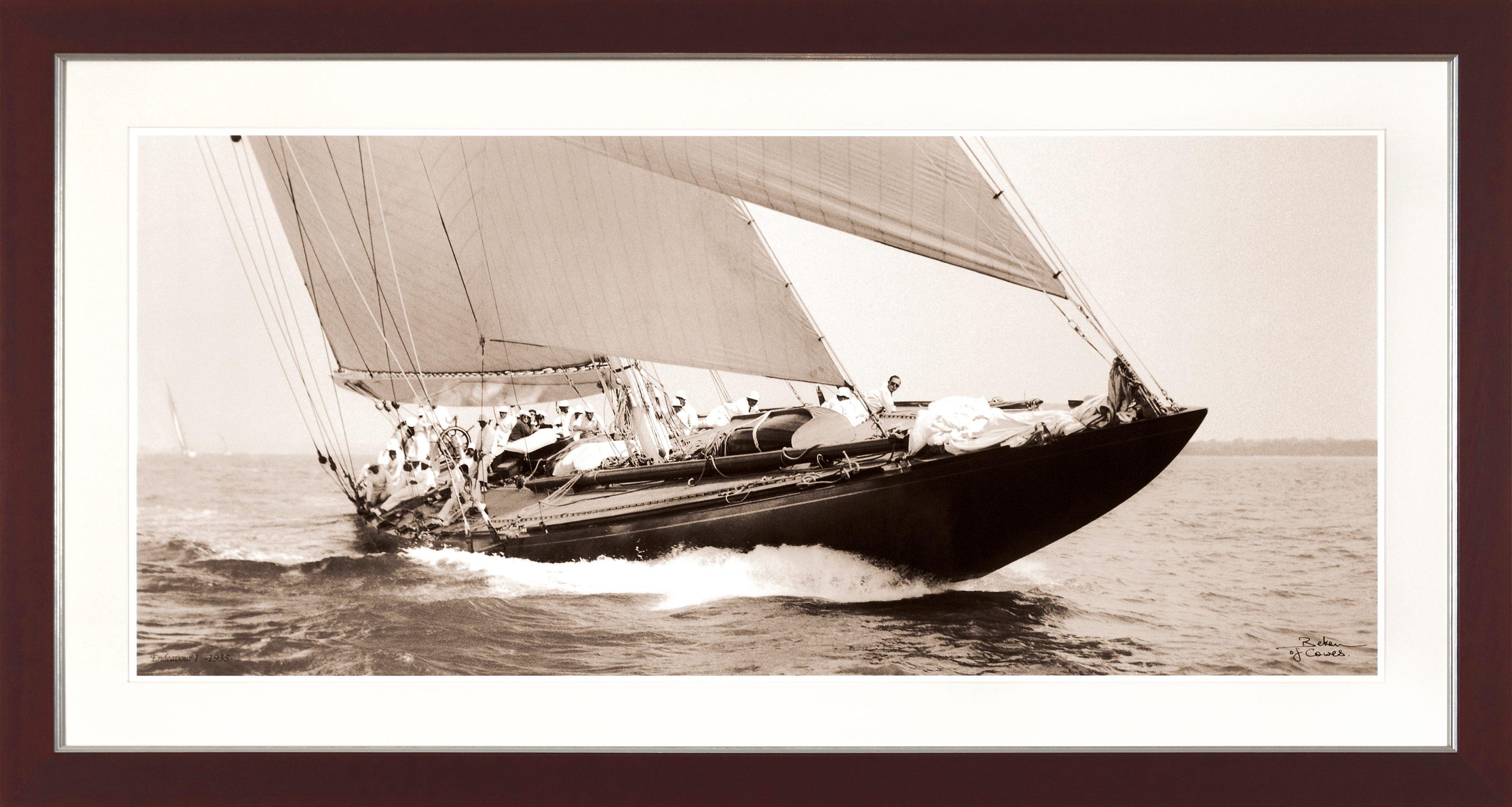G&C gerahmter Kunstdruck »SHIPS Motiv 3«, 31/56 cm