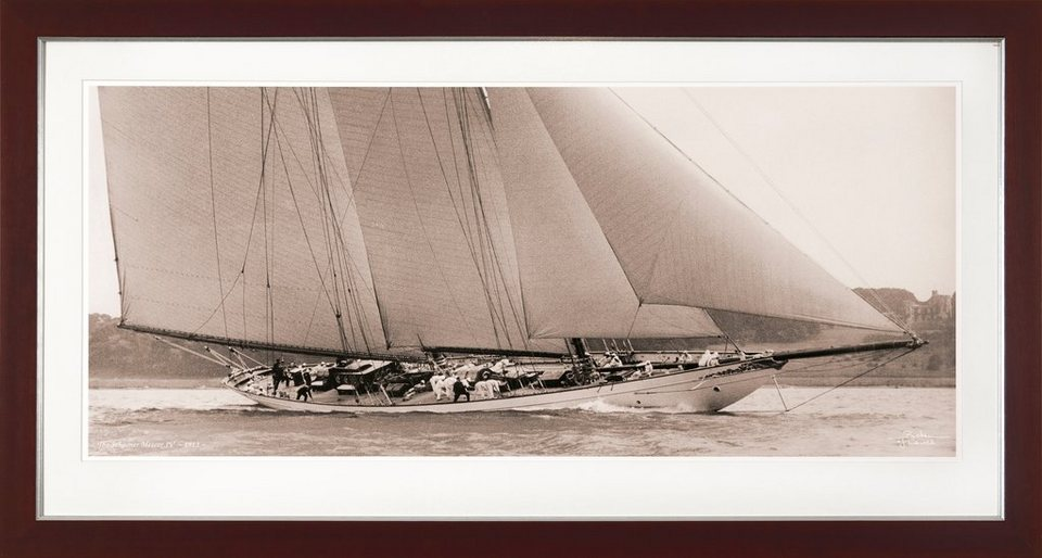 G&C gerahmter Kunstdruck »SHIPS Motiv 4«, 31/56 cm in Sepia-Effekt