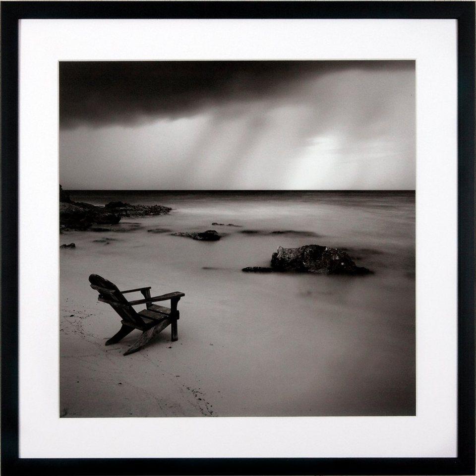 G&C gerahmter Kunstdruck »Levy: Beach Motiv 2«, 50/50 cm in Schwarz/weiß