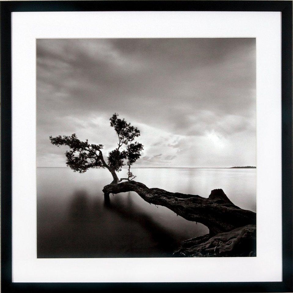 G&C gerahmter Kunstdruck »Levy: Beach Motiv 4«, 50/50 cm in Schwarz/weiß