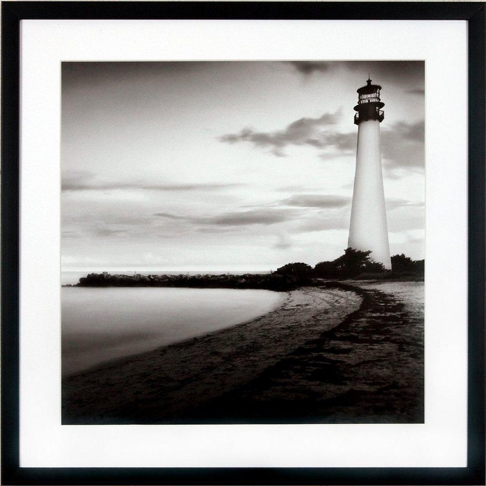 G&C gerahmter Kunstdruck »Levy: Beach Motiv 1«, 50/50 cm in Schwarz/weiß