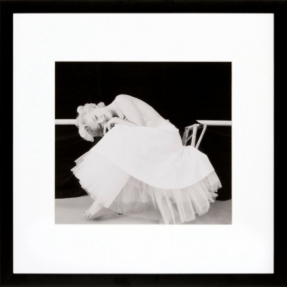 G&C gerahmte Fotografie »Marilyn Monroe Motiv 2«, 40/40 cm in Schwarz/weiß