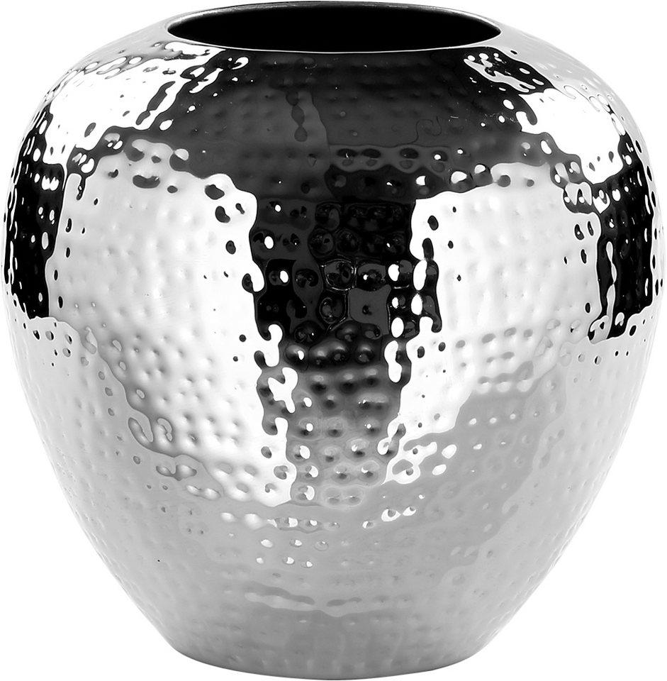 Fink Vase »LOSONE« in zwei Größen in Silber