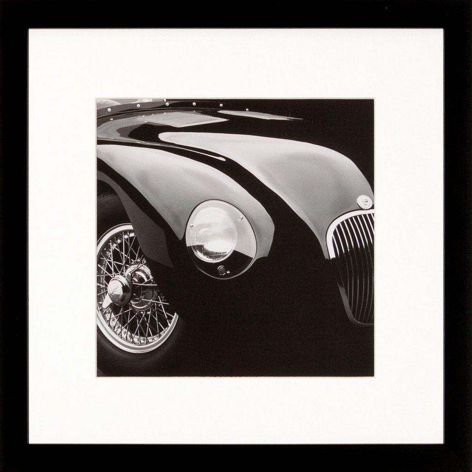 G&C gerahmte Fotografie »Retro: Classic cars Motiv 1« , 30/30 cm in Schwarz/weiß