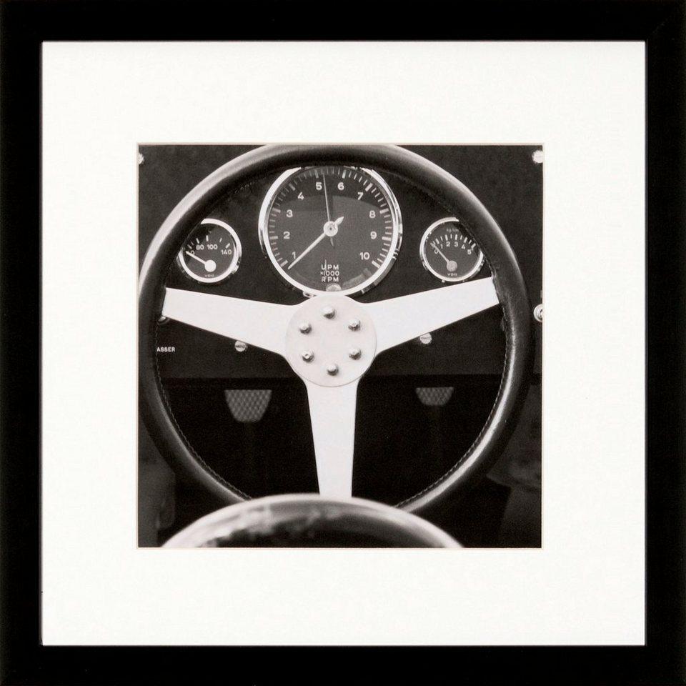 G&C gerahmte Fotografie »Retro: Classic cars Motiv 2«, 30/30 cm in Schwarz/weiß