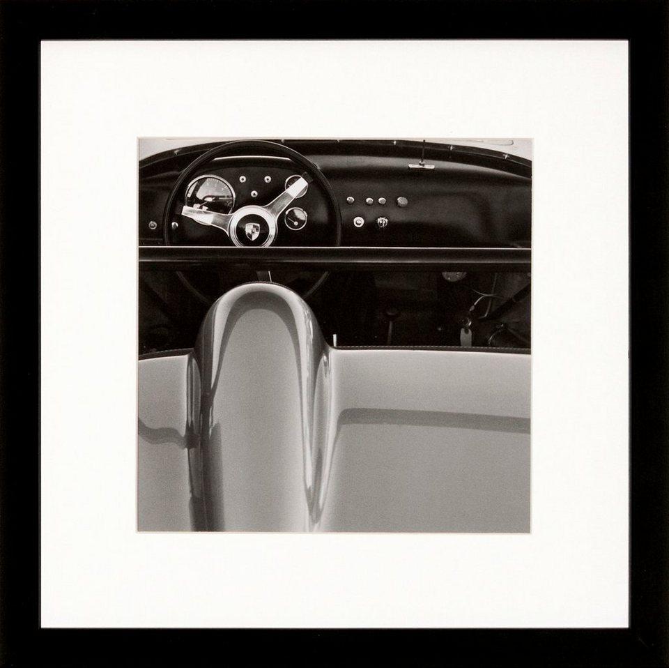 G&C gerahmte Fotografie »Retro: Classic cars Motiv 3«, 30/30 cm in Schwarz/weiß