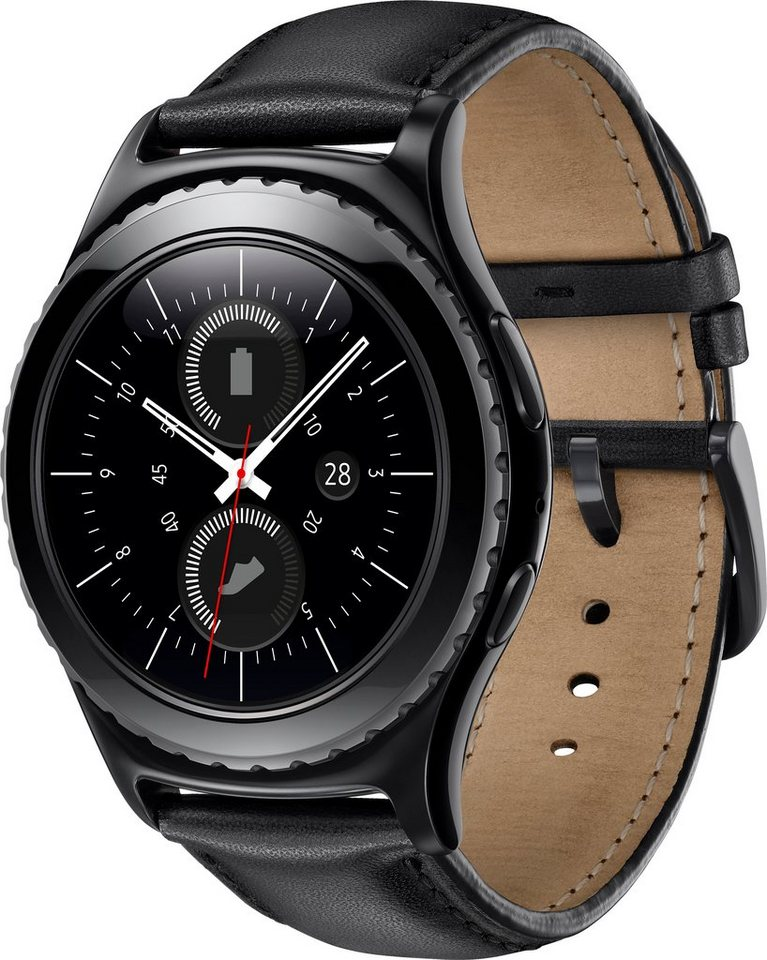 Samsung Gear S2 Classic Smartwatch, Tizen, 3,05 cm (1,2 Zoll) Super AMOLED-Touchscreen Display in Schwarz