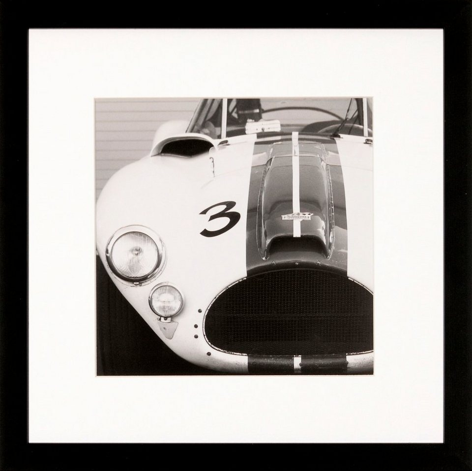 G&C gerahmte Fotografie »Retro: Classic cars Motiv 4«, 30/30 cm in Schwarz/weiß