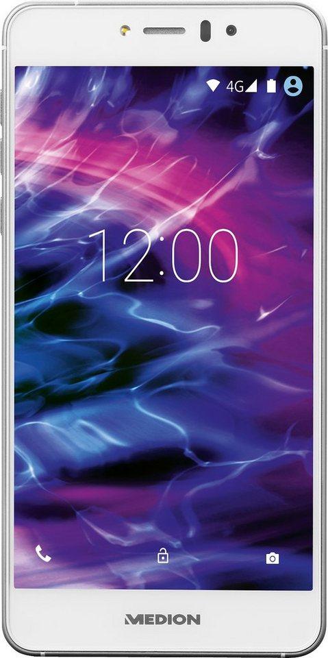 Medion® X5020 Smartphone, 12,7 cm (5 Zoll) Display, LTE (4G), 13,0 Megapixel in weiß