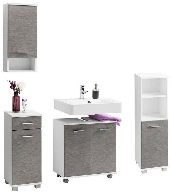 Badezimmer Sets - Schildmeyer Badmöbel Set »Vigo«, (Set, 4 tlg), mit Metallgriffen  - Onlineshop OTTO