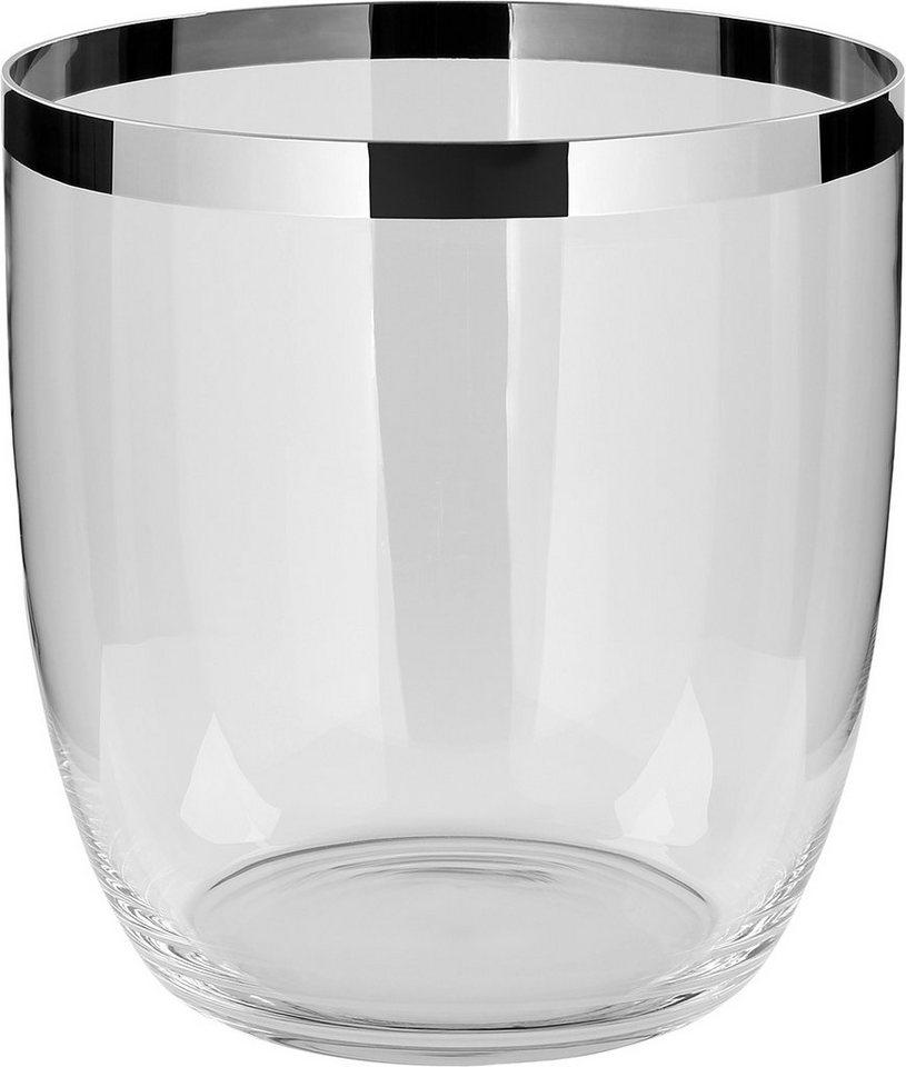 Fink Vase oder Windlicht »DELUXE« mit schönem Platinumrand in Glas