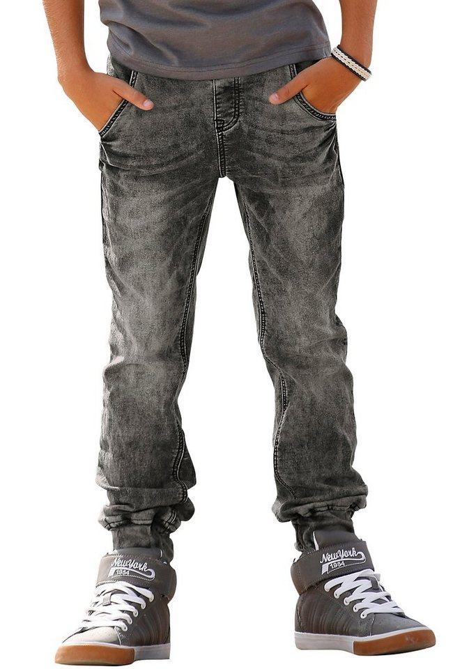 Arizona Sweatjeans in Jeans-Optik in black-used