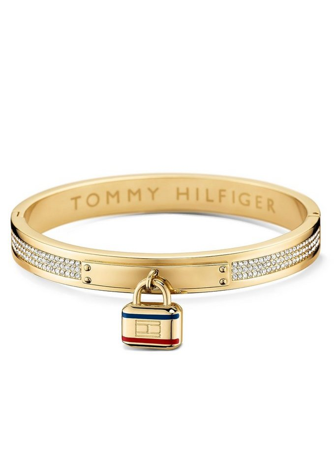 Tommy Hilfiger Armreif mit Schloss, »Classic Signature, 2700710« in goldfarben
