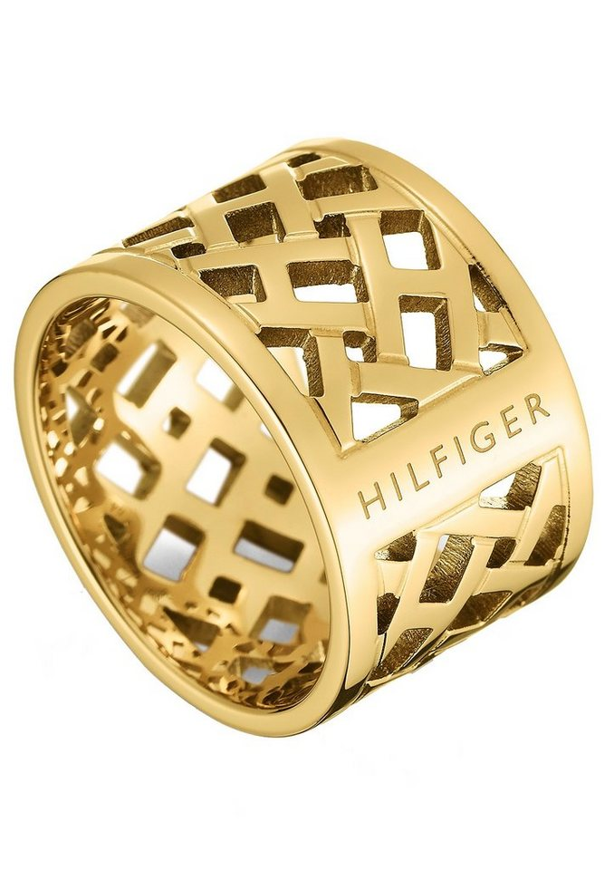 Tommy Hilfiger Ring, »Classic Signature, 2700750B-E« in goldfarben