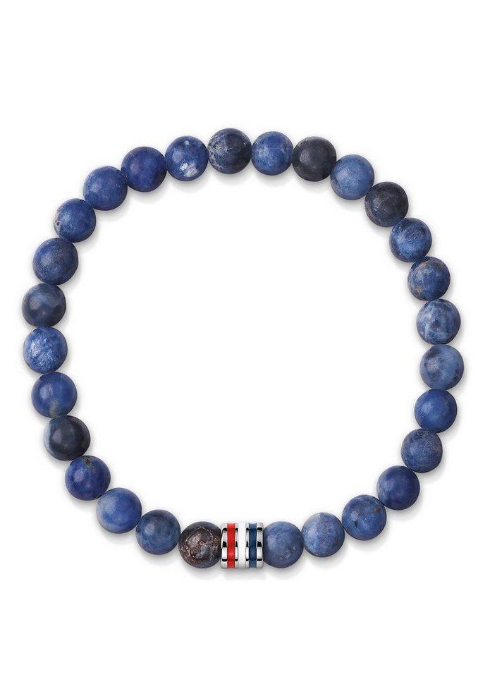 Tommy Hilfiger Armband mit Sodalith-Kugeln, »Men's Casual, 2700676L« in blau/silberfarben