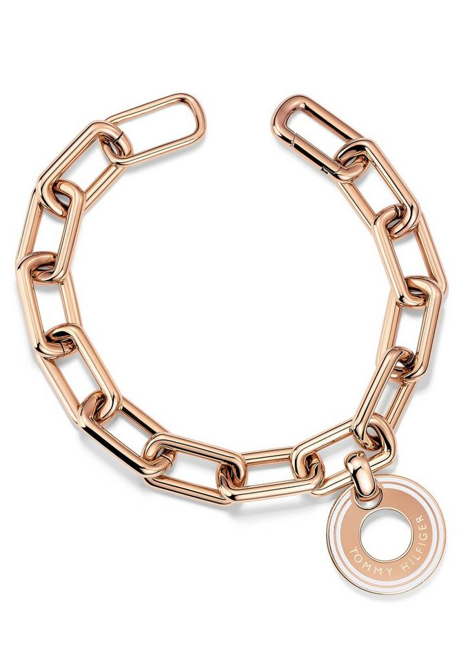 Tommy Hilfiger Armband, »Classic Signature, 2700705« in roségoldfarben/weiß