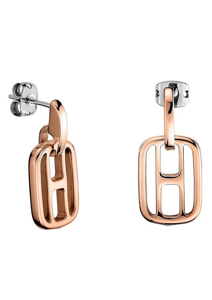 Tommy Hilfiger Paar Ohrstecker, »Classic Signature, 2700723« in roségoldfarben/silberfarben