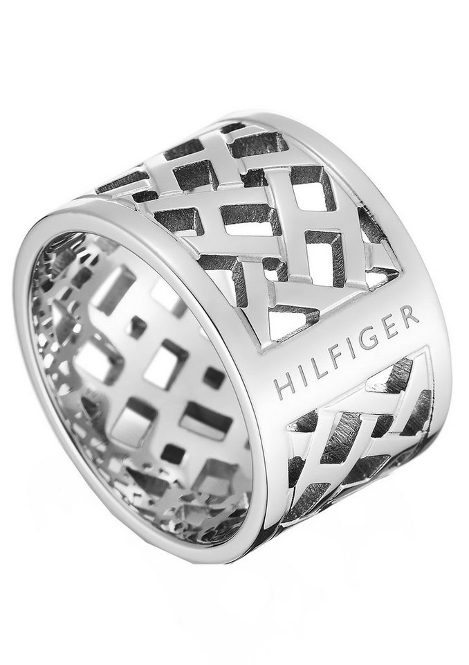 Tommy Hilfiger Ring, »Classic Signature, 2700743B-E« in silberfarben