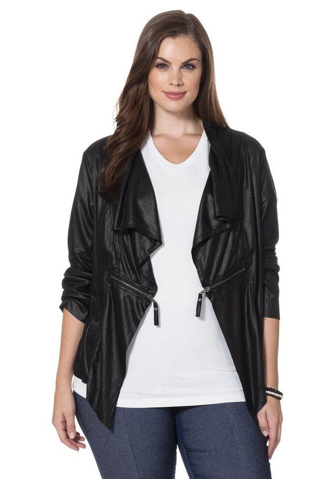sheego Style Kurzjacke in schwarz