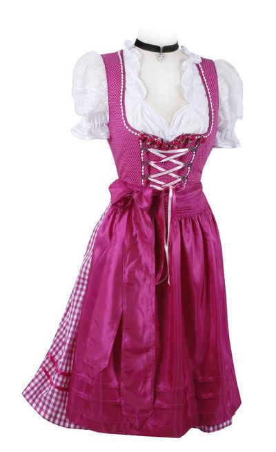 Moschen-Bayern Dirndl »Mini-Dirndl kurz Damen - Dirndl Mini Pink Trachtenkleid Oktoberfest Wiesn-Dirndl 60 cm« (Dirndl mit Schürze (ohne Bluse) Dirndl, Mini, kurz, Trachtenkleid, kariert