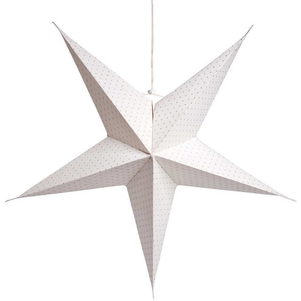 BUTLERS LATERNA MAGICA »Stern Punkte« in weiß/silber