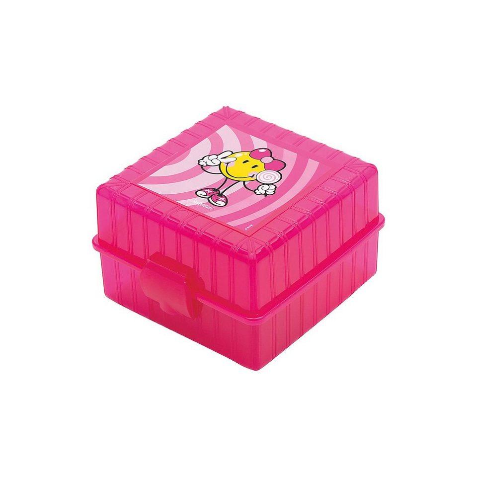 Lunchbox Smiley Kid 4-Fach unterteilt rosa in rosa