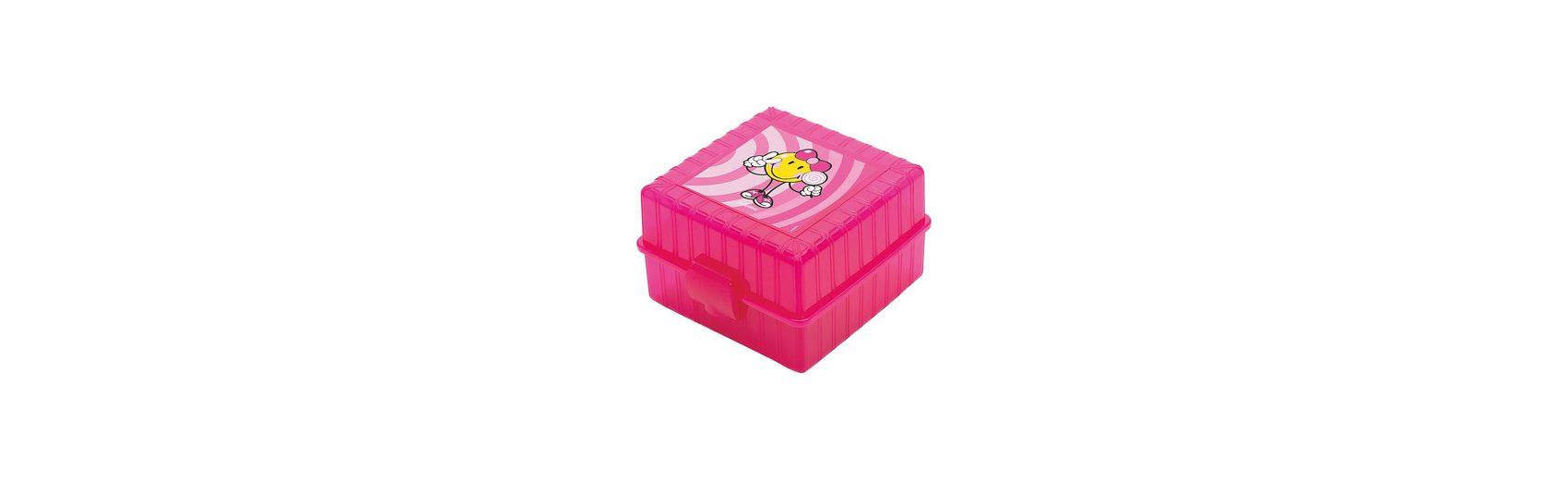 Lunchbox Smiley Kid 4-Fach unterteilt rosa