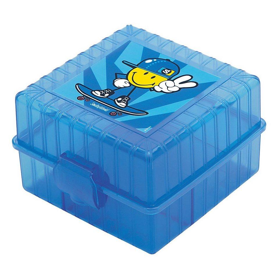 Lunchbox Smiley Kid unterteilt blau in blau
