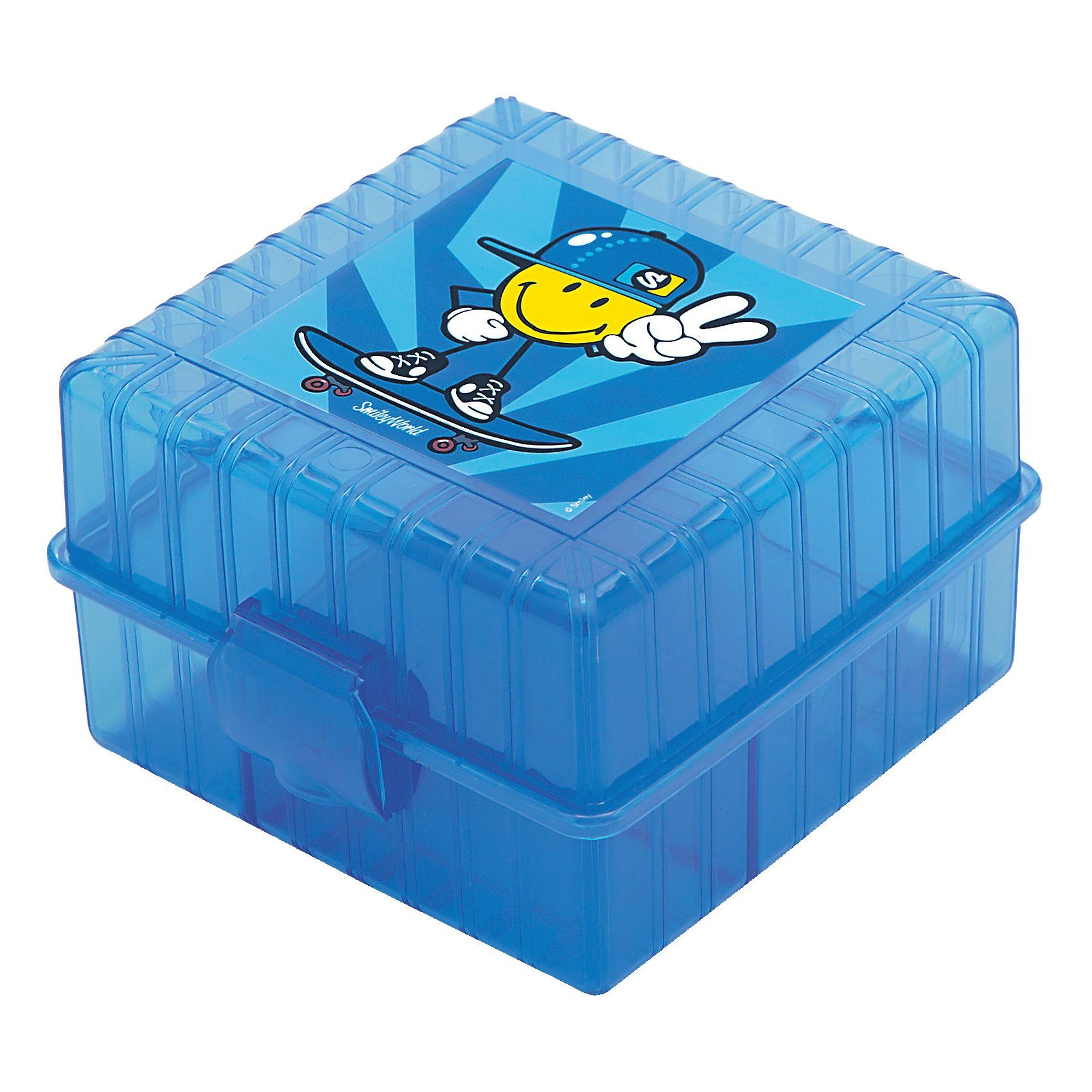 Lunchbox Smiley Kid unterteilt blau