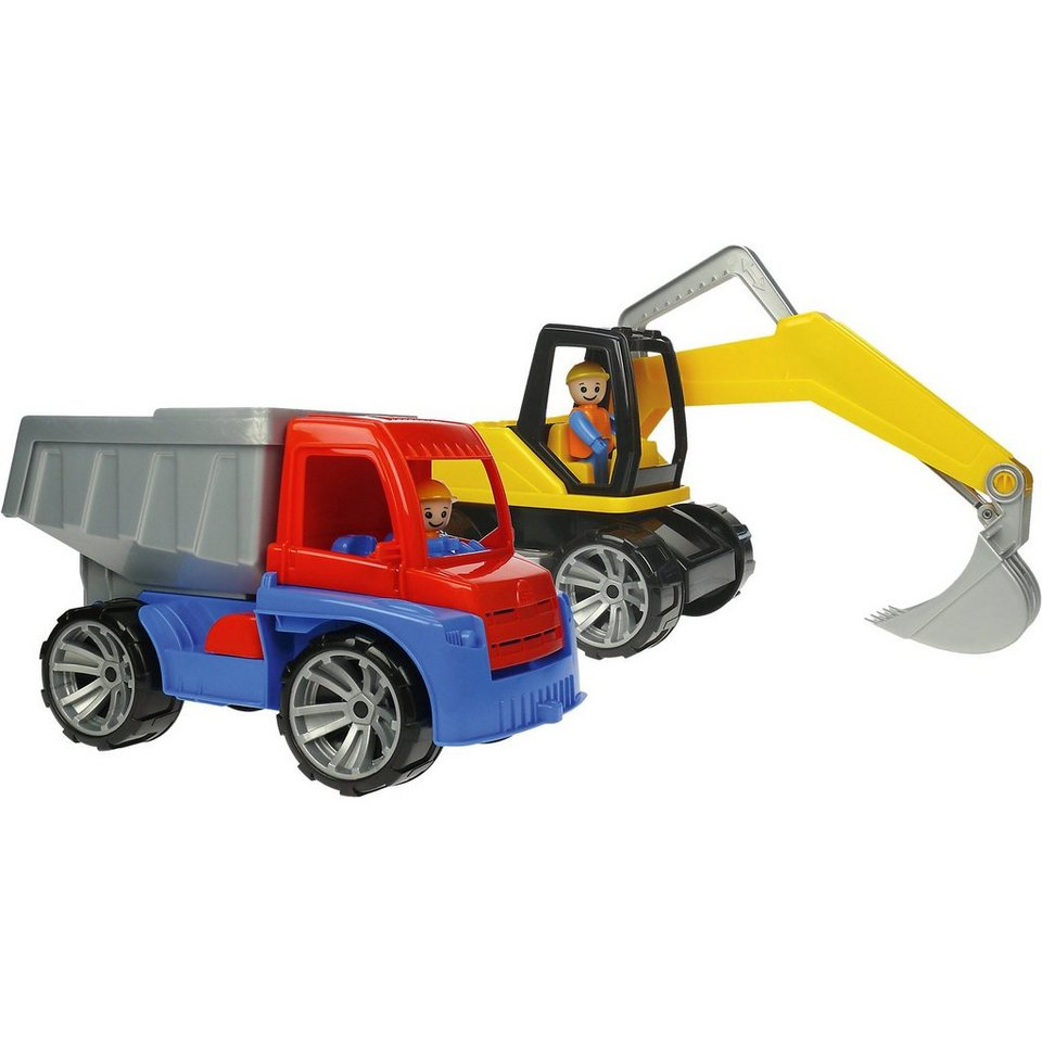 LENA 2er Set - Truxx Kipper und Bagger, je 27 cm