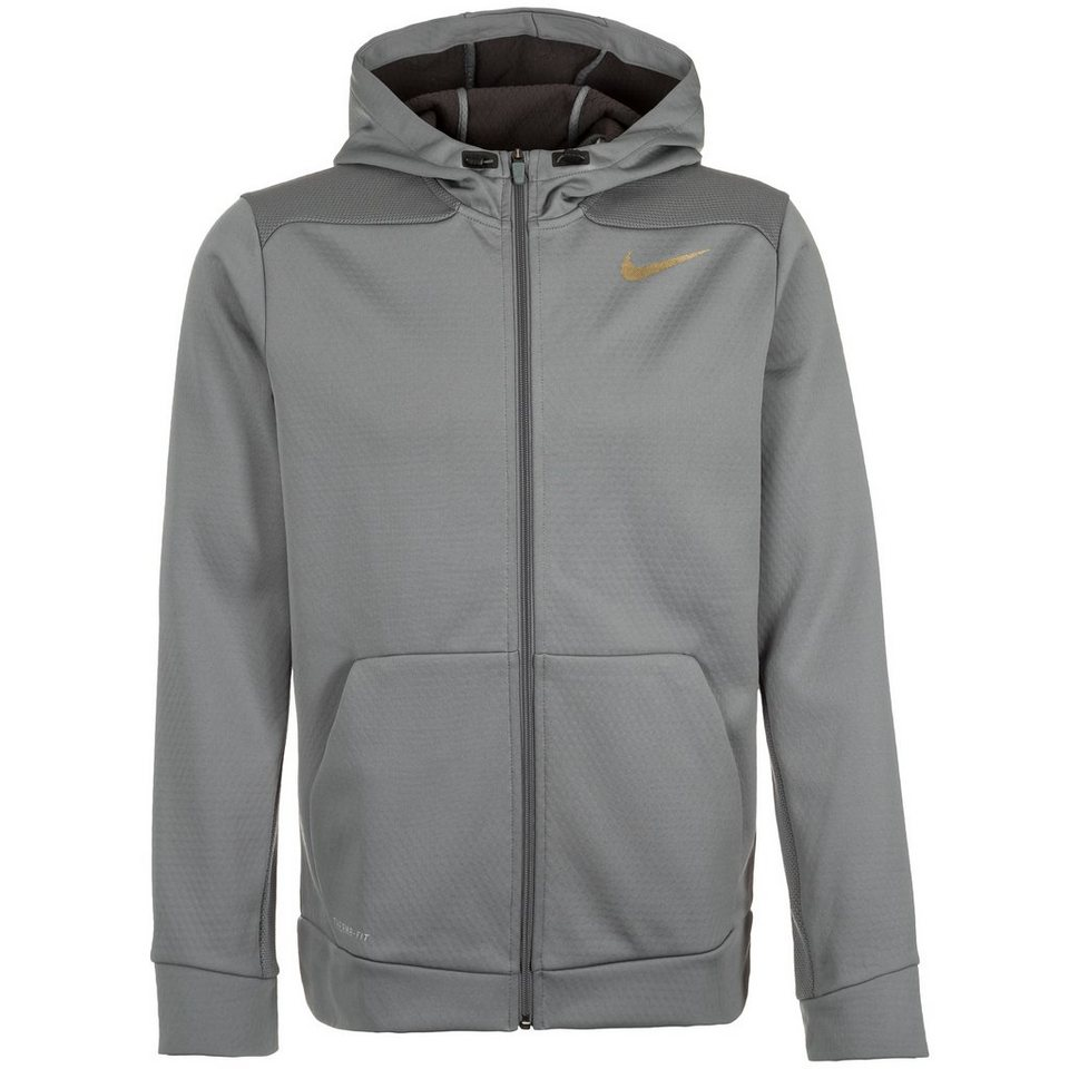 NIKE Therma Sphere Trainingsjacke Herren in grau / gold