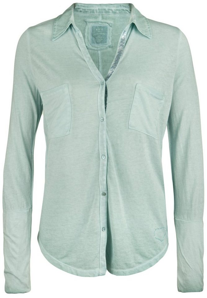 Better Rich Bluse »POCKET PAILLETTE« in cameo